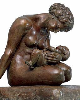 """Skulptur """"Mutter mit Kind"""" (1907), Version in Bronze"""