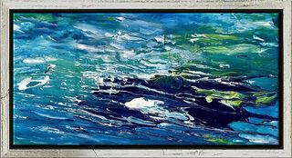 "Bild ""Ocean of Desire 9"" (2019) (Original / Unikat), gerahmt"