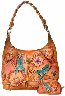 """Handtasche """"Flying Jewels"""" der Marke Anuschka® mit Zusatztaschen"""