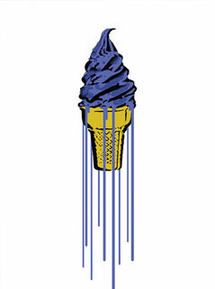 "Bild ""Blue Glitter Icecream"" (2015)"