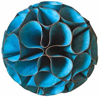 "Skulptur ""Seed - Magic Blue"" (2019) (Original / Unikat), Kupfer pigmentiert"