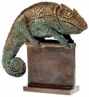 """Skulptur """"Chamäleon"""", Bronze"""