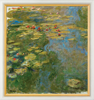 """Bild """"Le Bassin aux Nymphéas, Partie Gauche - Der Seerosenteich, linker Teil"""" (1917-19), gerahmt"""