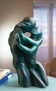"""Skulptur """"Der Kuss"""", Version in Bronze"""