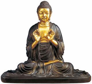 "Buddha-Skulptur ""Ami da Nyorai"", Kunstbronze teilvergoldet"