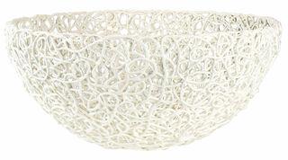 "Porzellanschale ""Kordel"" (große Version, Ø 38 cm, weiß)"