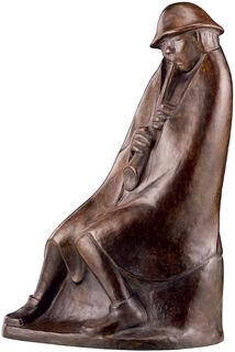 "Skulptur ""Der Flötenbläser"" (1936), Reduktion in Bronze"