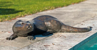 "Gartenskulptur ""Otter"", Bronze"