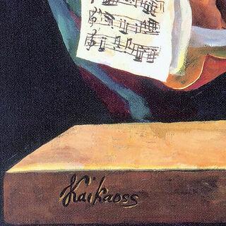 """Bild """"Die Übungsstunde"""" (2007), auf Keilrahmen"""