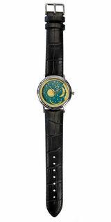 "Armbanduhr ""Himmelsscheibe"", Edelstahl"