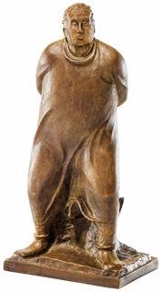 """Skulptur """"Der Spaziergänger"""" (1912), Reduktion in Bronze"""