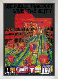 "Bild ""Save the City"", gerahmt"