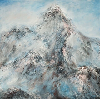 "Bild ""Nebel im Gebirge III"" (2021) (Unikat)"