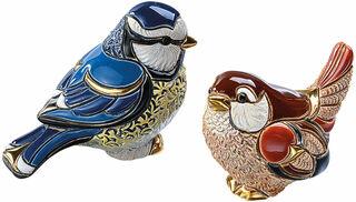 """2 Keramikfiguren """"Vogelpaar"""" im Set"""