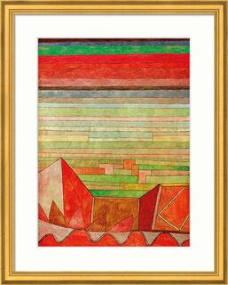 """Bild """"Blick in das Fruchtland"""" (1932), gerahmt"""