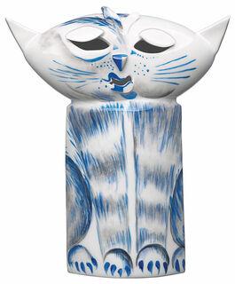 """Skulptur """"Katze"""", Porzellan"""