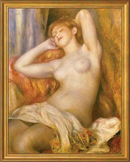 """Bild """"Das schlafende Mädchen"""" (1897), gerahmt"""