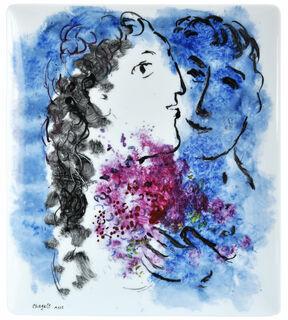 "Kollektion ""Les Bouquets de fleurs"" von Bernardaud - Schale / Platte, Porzellan"