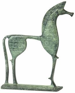 """Skulptur """"Trojanisches Pferd"""", Messing"""