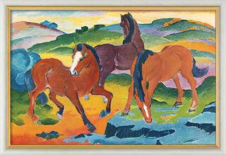 "Bild ""Die roten Pferde"" (1911), gerahmt"