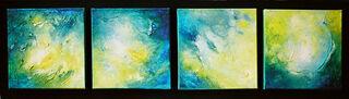 """4 Bilder """"Waterways"""" als Installation (2006) (Original / Unikat), auf Keilrahmen"""