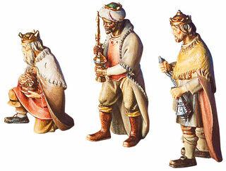 """Krippenfiguren """"Heilige Drei Könige"""", Holz handbemalt"""