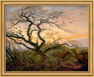 """Bild """"Baum mit Raben"""", gerahmt"""