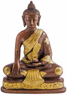 "Messingskulptur ""Buddha Shakyamuni"""