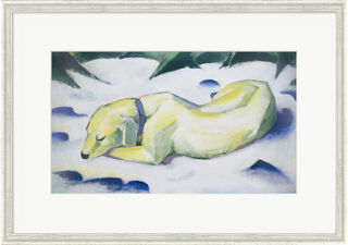 """Bild """"Der weiße Hund"""" (1910/1911), gerahmt"""