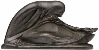 """Skulptur """"Russische Bettlerin II"""" (1932), Reduktion in Bronze"""