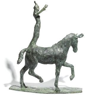 """Skulptur """"Kleine Kunstreiterin"""" (2019), Bronze"""