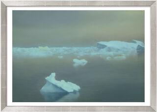 """Bild """"Eis"""" (1981), Version silberfarben gerahmt"""