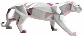 """Porzellanfigur """"Panther"""", handbemalt"""