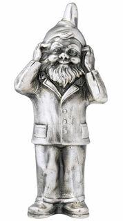 "Skulptur ""Geheimnisträger - Nichts hören"", Version versilbert"