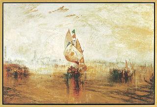 """Bild """"Die Sonne von Venedig"""" (1843), gerahmt"""