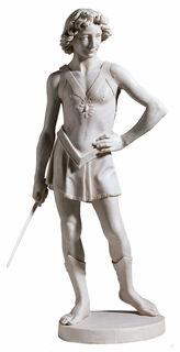 "Skulptur ""David"", Kunstmarmor"
