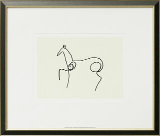 "Bild ""Das Pferd - Le Cheval"", gerahmt"