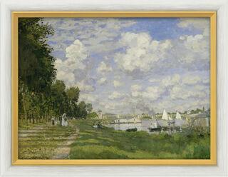 """Bild """"Le Bassin d'Argenteuil"""" (um 1872), gerahmt"""