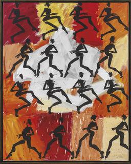 """Bild """"Schleichen im Rhythmus"""" (2001) (Unikat)"""