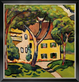 """Bild """"Staudacherhaus in Tegernsee"""" (1910), Version schwarz-silber gerahmt"""