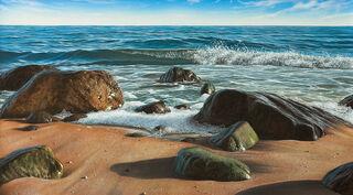 """Bild """"Am Meer"""", auf Keilrahmen"""