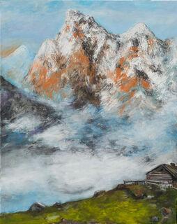 """Bild """"Wolken ziehen auf im Hochgebirge"""" (2021) (Unikat)"""