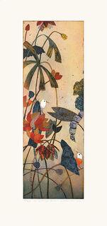 """Bild """"Im Lotusversteck"""" (2009), ungerahmt"""