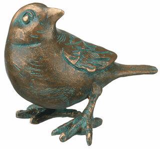 "Gartenskulptur ""Spatz, drehend"", Bronze"