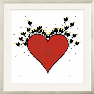 "Bild ""All you need is Love"", gerahmt"