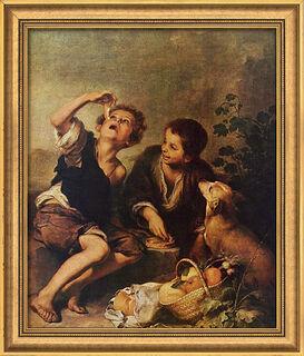 """Bild """"Die Pastetenesser"""" (um 1675), gerahmt"""