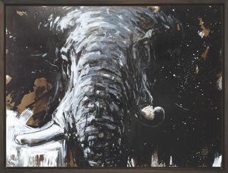 "Bild ""Elefant 90"" (2018) (Unikat)"