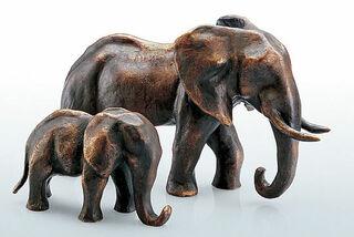 """Skulptur """"Elefanten-Mutter"""", Bronze"""