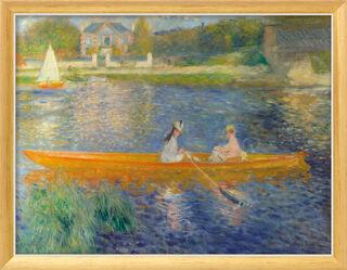 """Bild """"Das Ruderboot (La Yole)"""" (1875), Version goldfarben-weiß gerahmt"""