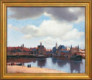 """Bild """"Ansicht von Delft"""" (1660/61), gerahmt"""
